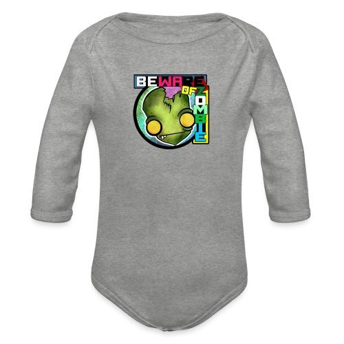 Beware of zombie - Body orgánico de manga larga para bebé