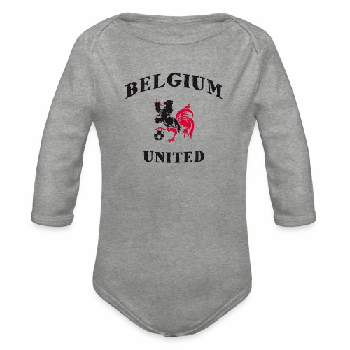 Belgium Unit - Organic Longsleeve Baby Bodysuit