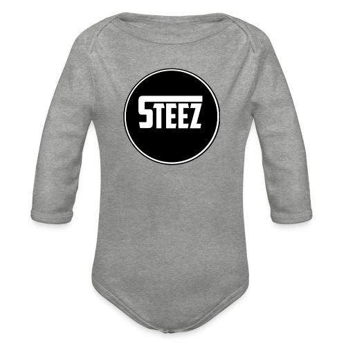 Steez t-Shirt black - Baby bio-rompertje met lange mouwen