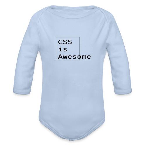 cssawesome - black - Baby bio-rompertje met lange mouwen