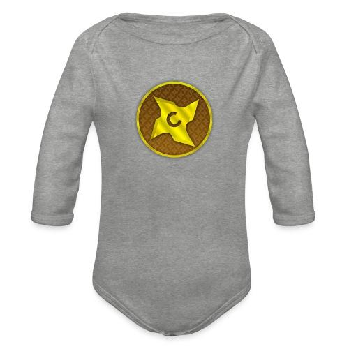 creative cap - Langærmet babybody, økologisk bomuld