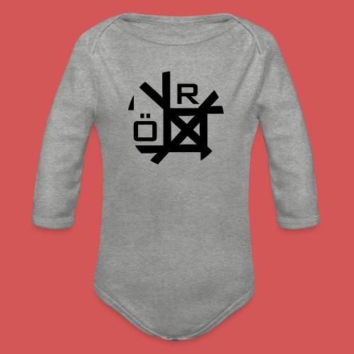Nörthstat Group™ TecH   iCon - WHT.Knapsack - Organic Longsleeve Baby Bodysuit