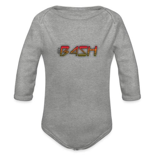 Bash Logo - Organic Longsleeve Baby Bodysuit