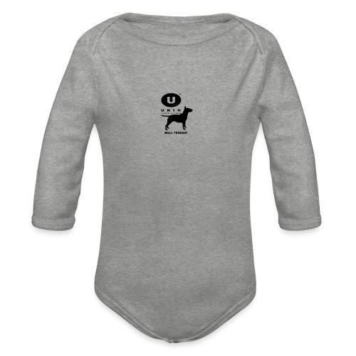 BULL TERRIER UNIK - Body ecologico per neonato a manica lunga