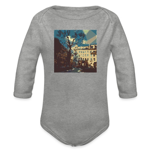 Abstrakt Budapest - Baby Bio-Langarm-Body