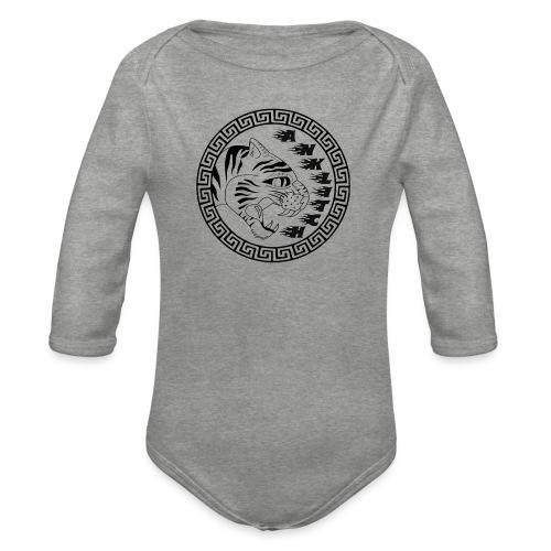 Anklitch trui grijs - Baby bio-rompertje met lange mouwen