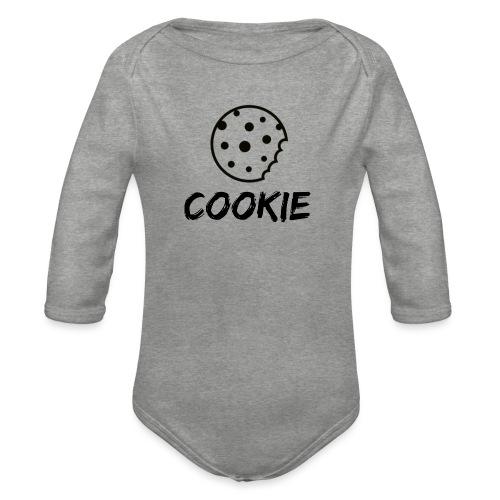 La galleta _-_ Negro _-_ galleta - Body orgánico de manga larga para bebé