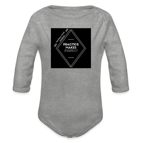 Practice Makes Perfect - Organic Longsleeve Baby Bodysuit