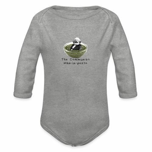 Man-in-pesto - Organic Longsleeve Baby Bodysuit