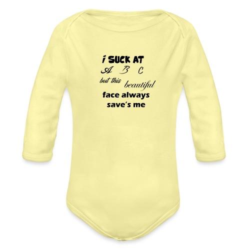 I Suck At ABC - Baby bio-rompertje met lange mouwen