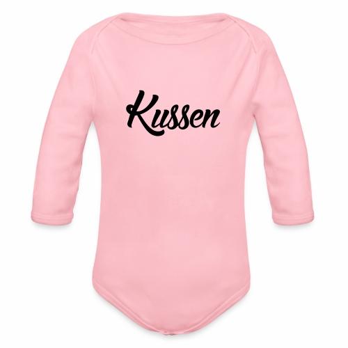 Kussen.website kussensloop zwart - Baby bio-rompertje met lange mouwen