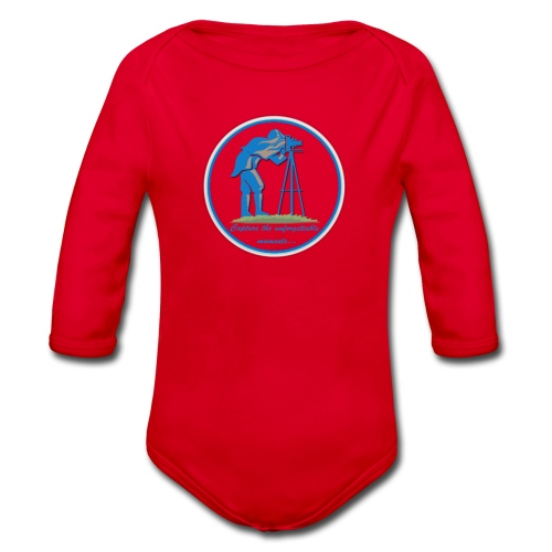 Logo Capture the Moment - Organic Longsleeve Baby Bodysuit