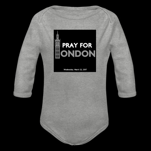 PRAY FOR LONDON - Body Bébé bio manches longues