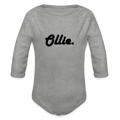 Ollie Harlow Solid - Baby bio-rompertje met lange mouwen