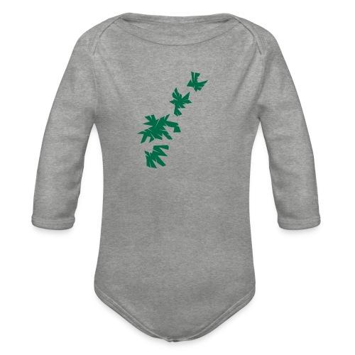 Green Leaves - Baby Bio-Langarm-Body
