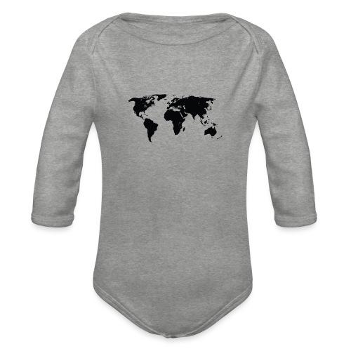 World - Langærmet babybody, økologisk bomuld