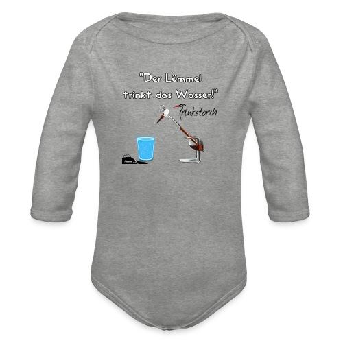 Der Lümmel Trinkt das Wasser - Baby Bio-Langarm-Body