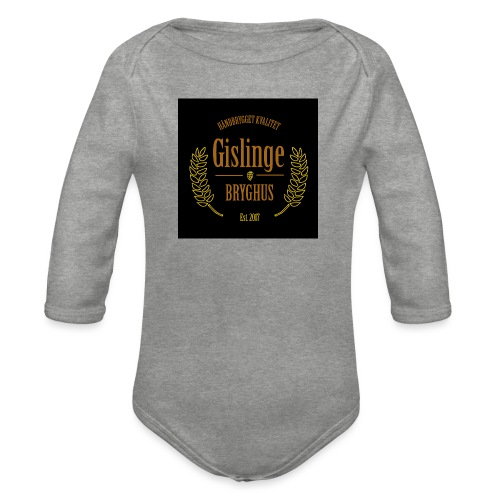 Sort logo 2017 - Langærmet babybody, økologisk bomuld