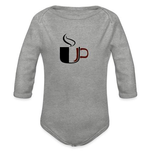 JU Kahvikuppi logo - Vauvan pitkähihainen luomu-body