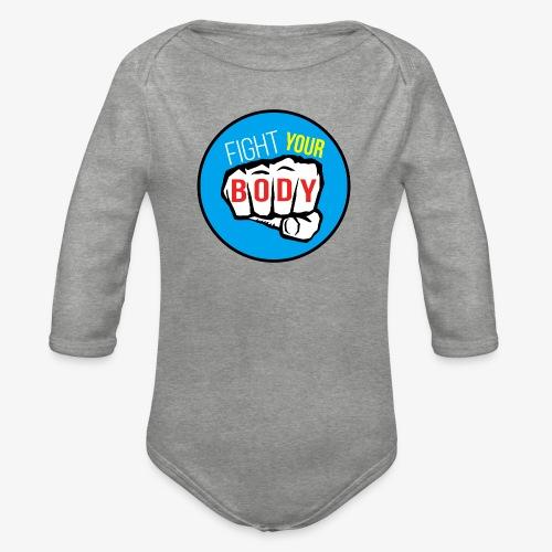 logo fyb bleu ciel - Body Bébé bio manches longues