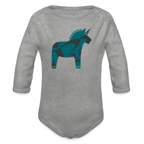 Swedish Unicorn - Baby Bio-Langarm-Body