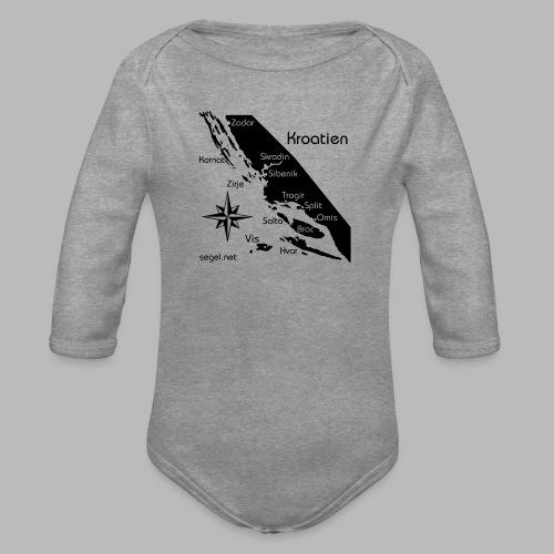 Crewshirt Urlaub Motiv Kroatien - Baby Bio-Langarm-Body
