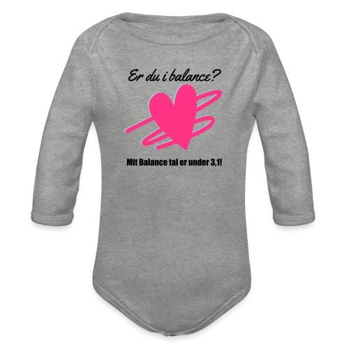 I Balance Design - Langærmet babybody, økologisk bomuld