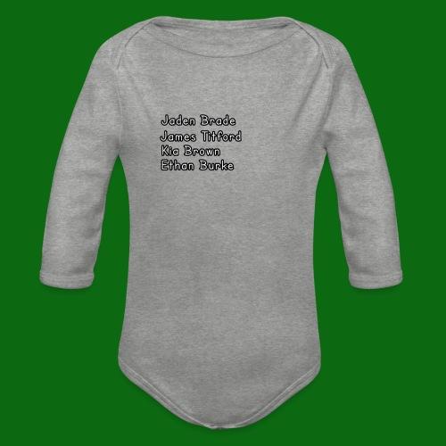 Glog names - Organic Longsleeve Baby Bodysuit