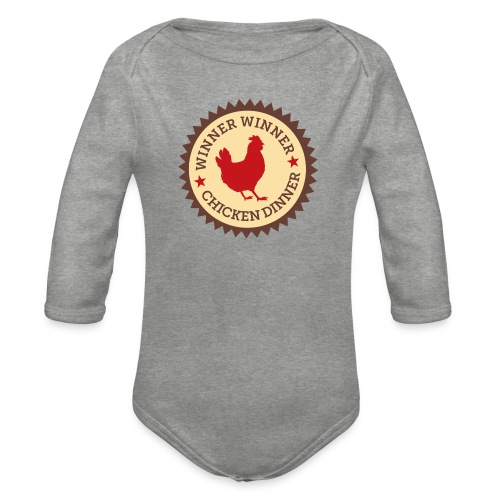 WINNER WINNER CHICKEN DINNER - Organic Longsleeve Baby Bodysuit