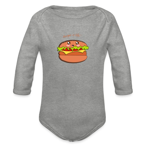 hamburger - Body Bébé bio manches longues