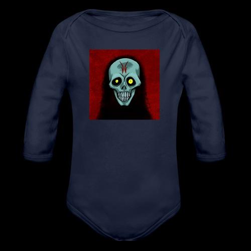 Ghost skull - Organic Longsleeve Baby Bodysuit
