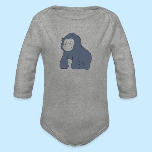 Baby Gorilla - Organic Longsleeve Baby Bodysuit
