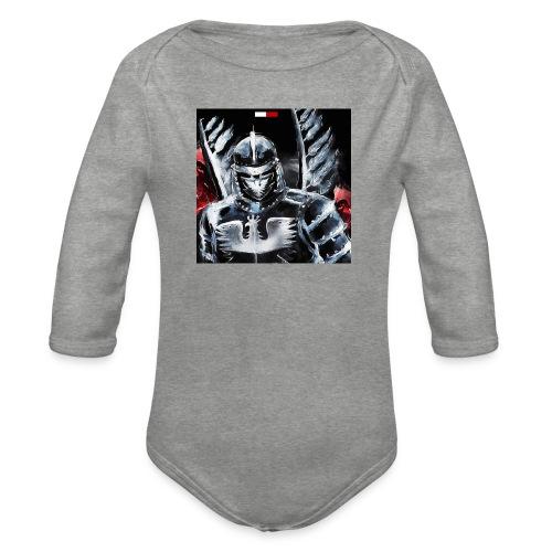 koszulka patriotyczna husaria - Ekologiczne body niemowlęce z długim rękawem