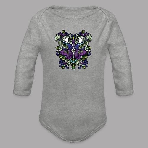 moth - Organic Longsleeve Baby Bodysuit