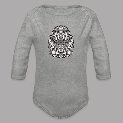 connected black - Organic Longsleeve Baby Bodysuit