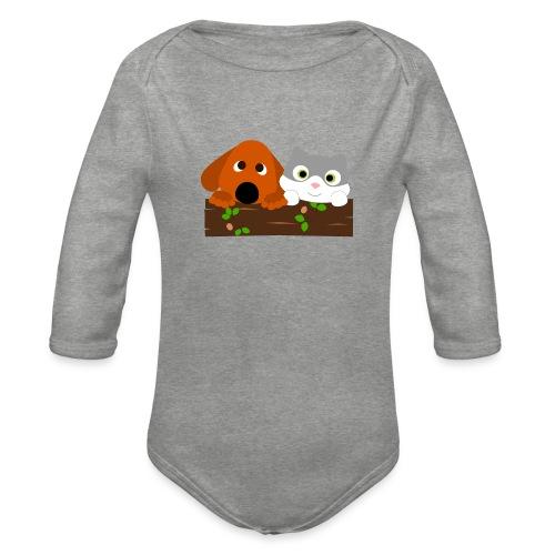 Hund & Katz - Baby Bio-Langarm-Body