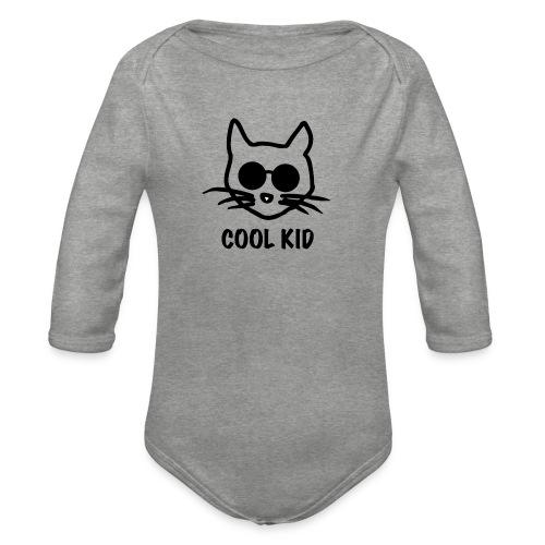 Cool Kid Cat - Ekologisk långärmad babybody