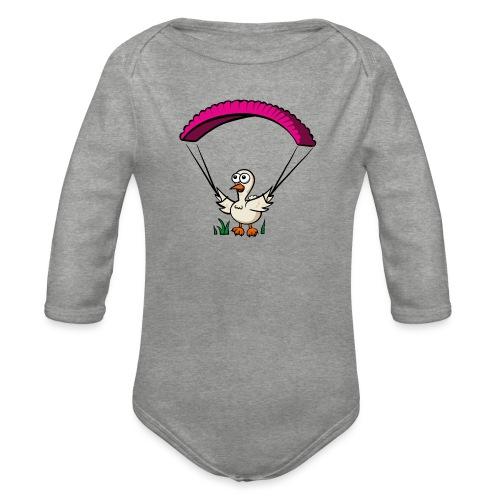 Groundhendl Groundhandling Hendl Paragliding Huhn - Baby Bio-Langarm-Body