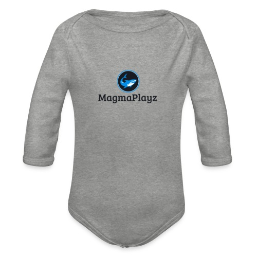 MagmaPlayz shark - Langærmet babybody, økologisk bomuld