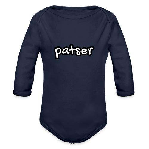 Patser - Basic White - Baby bio-rompertje met lange mouwen