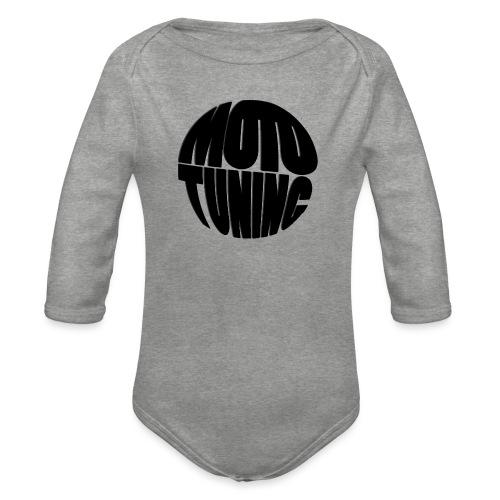 MotoTuning Black - Organic Longsleeve Baby Bodysuit