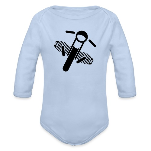 Motorrad Fahrer Shirt Boxerbike - Baby Bio-Langarm-Body