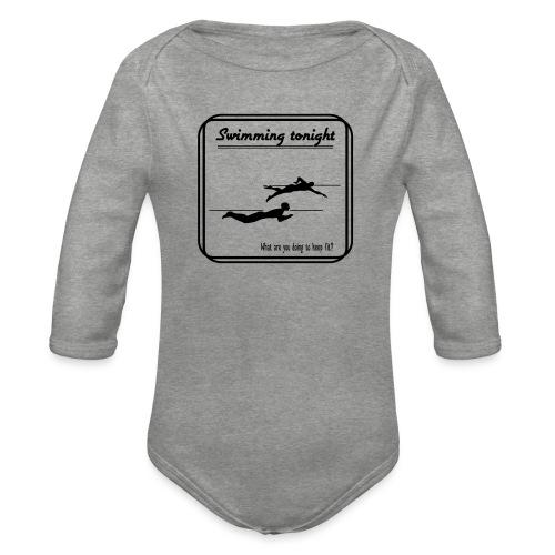 Swimming tonight - Vauvan pitkähihainen luomu-body