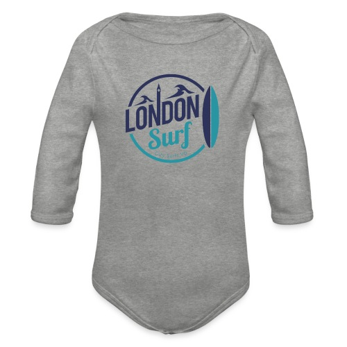 London Surf Classic Logo - Organic Longsleeve Baby Bodysuit