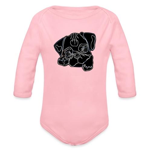 Pug Face - Organic Longsleeve Baby Bodysuit