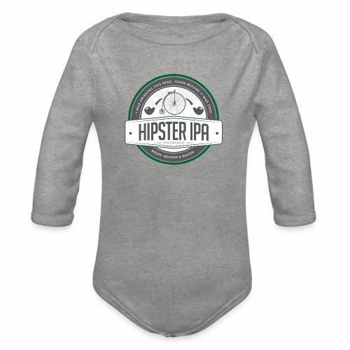 Hipster IPA - Organic Longsleeve Baby Bodysuit
