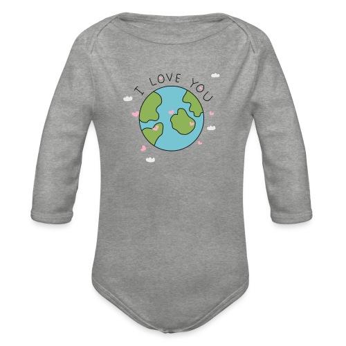 iloveyou - Body ecologico per neonato a manica lunga