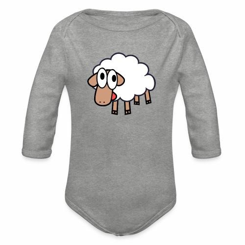 Sheep Cartoon - Baby bio-rompertje met lange mouwen