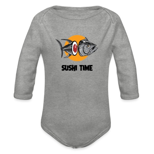 SUSHI TIME-tonno-n - Body ecologico per neonato a manica lunga