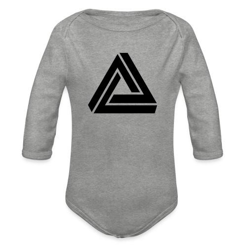 Tribar Dreieck, Unmögliche Figur Optische Illusion - Baby Bio-Langarm-Body